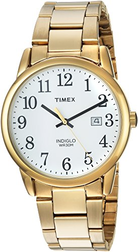 Timex Men's TW2R23600 Easy Reader Gold-Tone/White Stainless Steel Bracelet Watch