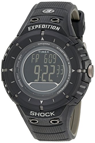Timex Men's Expedition Rugged Digital Compass Shock Black