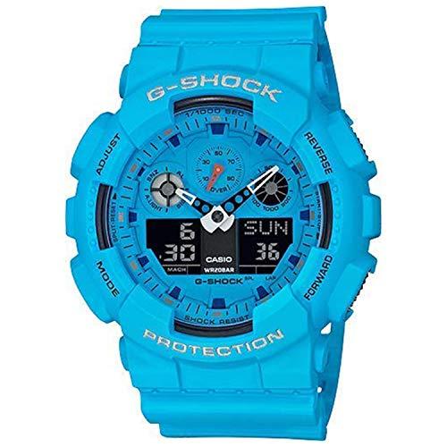 G-Shock by Casio Men's Limited Edition GA100RS-2A Analog-Digital Watch Blue