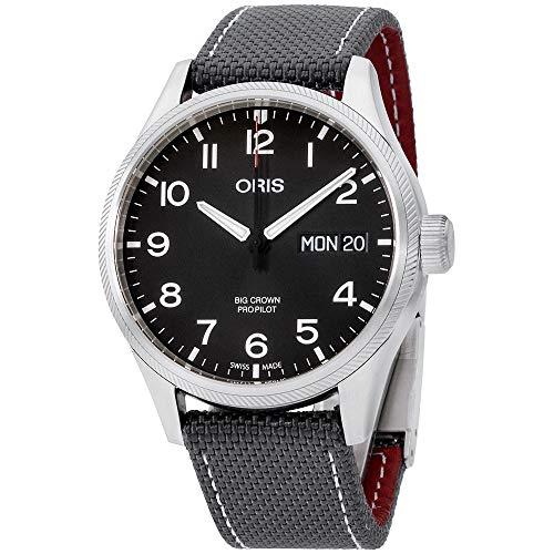 Oris Big Crown ProPilot Black Dial Canvas Strap Men's Watch 75276984194TSGRY