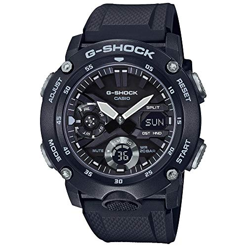 Men's Casio G-Shock Carbon Core Guard Black Analog-Digital Watch GA2000S-1A