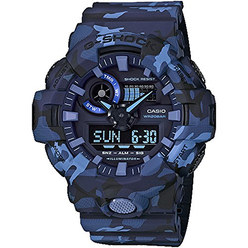 Casio GA700CM-2A G-Shock Men's Watch Blue Camo 53.4mm Resin