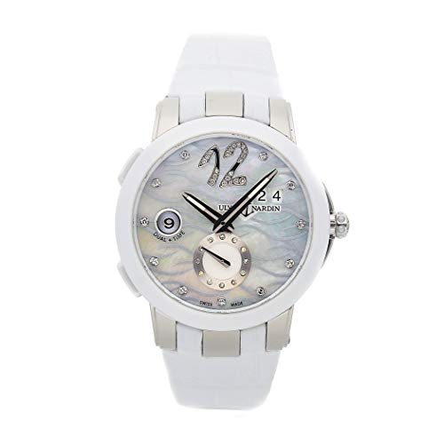 Ulysse Nardin Executive Dual Time Mechanical (Automatic) Mother-of-Pearl Dial Womens Watch 243-10/691 (Certified Pre-Owned)