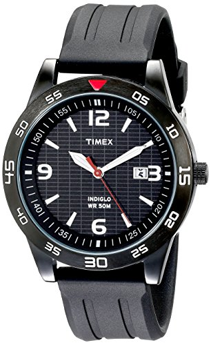 Timex Men's Fairlawn Avenue Black Resin Strap Watch