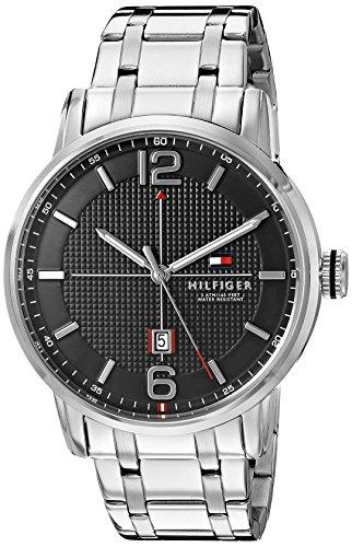 Tommy Hilfiger Men's 1791215 Analog Display Japanese Quartz Silver Watch