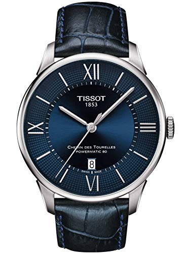 Tissot Chemin des Tourelles Powermatic 80 Stainless Blue Leather 42mm