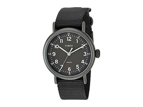 Timex Men's 40 mm Standard Fabric Strap Black One Size