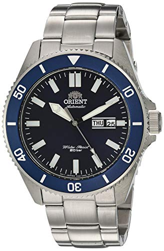 Orient Men's Kano Japanese-Automatic Diving Watch with Stainless-Steel Strap, Silver, 21 (Model: RA-AA0009L19A)