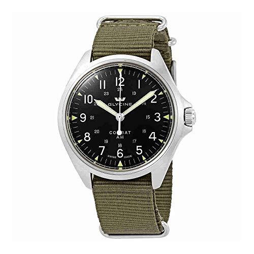 Glycine Combat 7 Vintage Automatic Black Dial Mens Watch GL0238