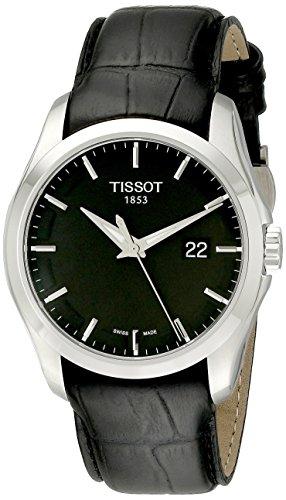 Tissot Men's Couturier Black Dial Strap Watch