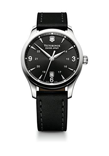 Victorinox Alliance Black Dial Leather Strap Mens Watch