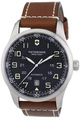 Victorinox Swiss Army Men's Air Boss Black Dial Brown Strap Watch