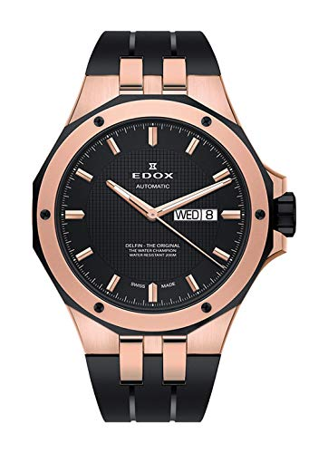 Edox Gents-Wristwatch Delfin Day-Date Date Weekday Analog Automatic 88005 357RNCA NIR