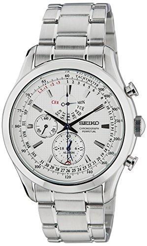 Seiko regular SPC123 44mm Silver Steel Bracelet & Case Hardlex (used for Seiko only) Men's Watch