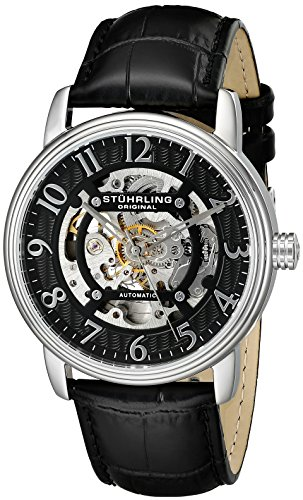 Stuhrling Original Men's 970.01 Legacy Analog Display Automatic Self Wind Black Watch