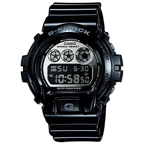 Casio G-Shock DW6900NB-1 Silver Mirror Dial Sports Watch (Jet Black)