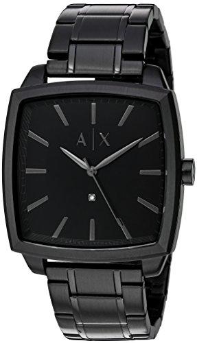 Armani Exchange Men's Black IP Watch