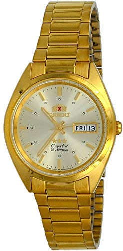 Orient #FAB00002C Men's 3 Star Standard Gold Tone Champagne Dial Automatic Watch