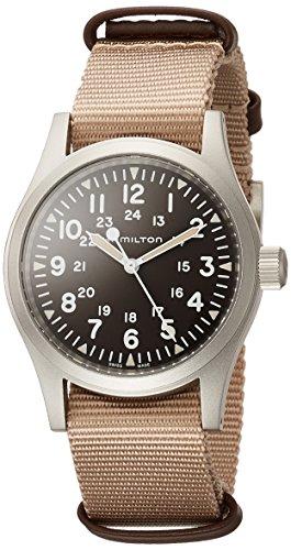 Hamilton Khaki Field Brown Dial Nylon Strap Men's Watch H69429901