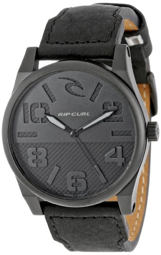 Rip Curl Men's A2625 Black Flyer Midnight Surf Watch With Black Leather Band