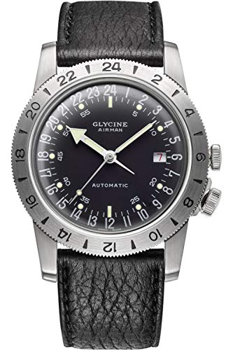 Glycine Airman No. 1 Limited Edition Automatic Black Dial Men's Watch GL0163