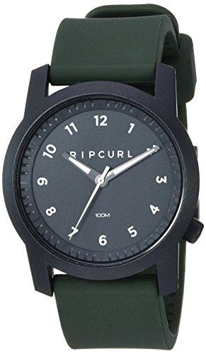 Rip Curl Men's Cambridge Quartz Sport Watch with Silicone Strap, Green, 22 (Model: A3088-MIL)