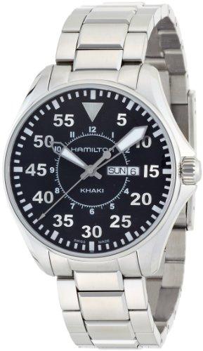 Hamilton Men's H64611135 Khaki Pilot Black Day Date Dial Watch