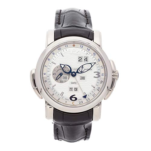 Ulysse Nardin GMT Perpetual Mechanical (Automatic) Silver Dial Mens Watch 320-60/60 (Certified Pre-Owned)