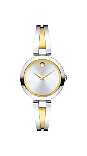 Movado Women's Aleena Two-Tone Watch with a Concave Dot Museum Dial, Gold/Silver (Model 607150)