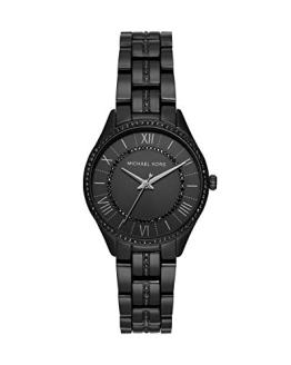 Michael Kors Women Lauryn Quartz Stainless Steel Black with Black Dial Watch MK4337