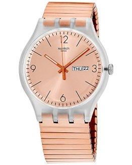 Swatch Originals Quartz Movement Rose Gold Dial Unisex Watch SUOK707B