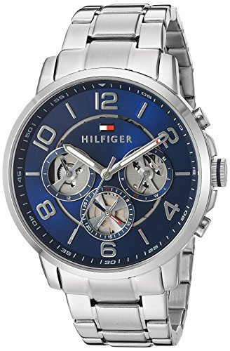 Tommy Hilfiger Men's Quartz Stainless Steel Watch, Color:Silver-Toned (Model: 1791293)