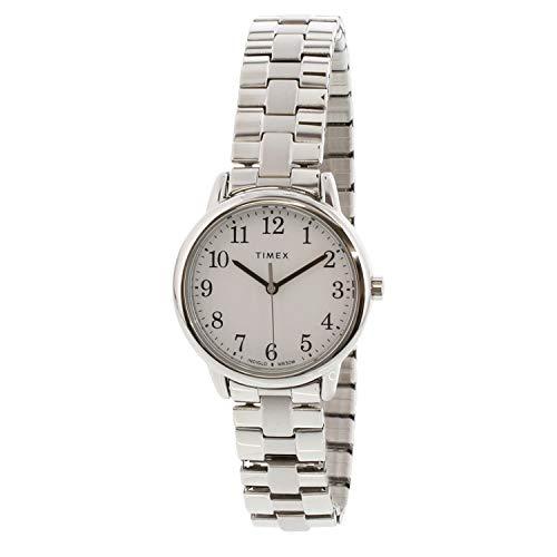 Timex Women's Easy Reader TW2R58700 Silver Stainless-Steel Analog Quartz Dress Watch
