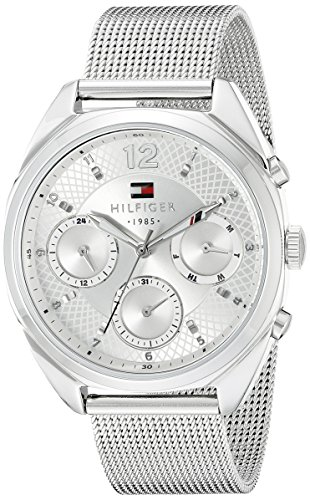 Tommy Hilfiger Women's Sophisticated Sport Silver-Tone Stainless Steel Watch