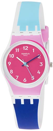 Swatch Womens Analogue Quartz Watch with Silicone Strap LW166
