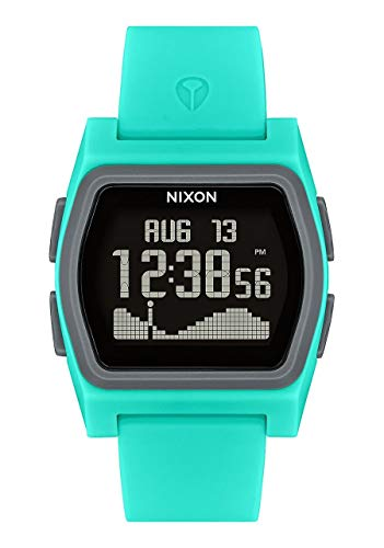 NIXON Rival A1236 - Turquoise - 100m Water Resistant Women's Digital Surf Watch (38mm Watch Face, 20mm-19mm Pu/Rubber/Silicone Band)
