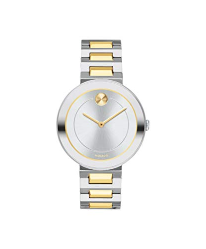 Movado Bold, Stainless Steel Case, Silver Dial, Two Tone Stainless Steel Bracelet, Women, 3600548
