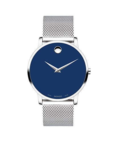 Movado Museum, Stainless Steel Case, Blue Dial, Stainless Steel Bracelet, Men, 0607349