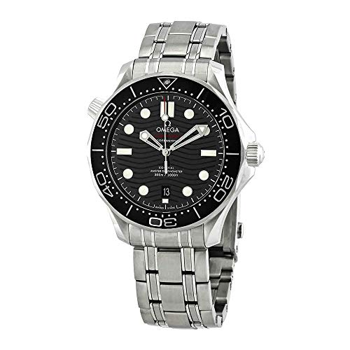 Omega Seamaster Black Dial Men's Diver Watch