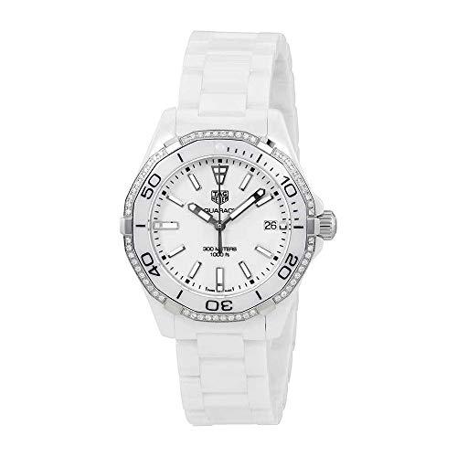 Tag Heuer Aquaracer Lady 300M 35mm White Diamonds Ceramic Watch