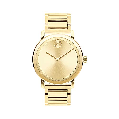 Movado Men's BOLD Evolution LYG Watch with a Flat Dot Sunray Dial, Gold (Model 3600508)