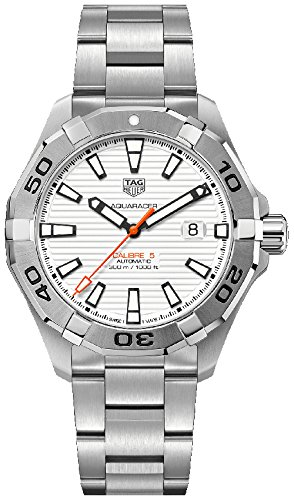 Tag Heuer Aquaracer White Dial Automatic Mens Stainless Steel Watch