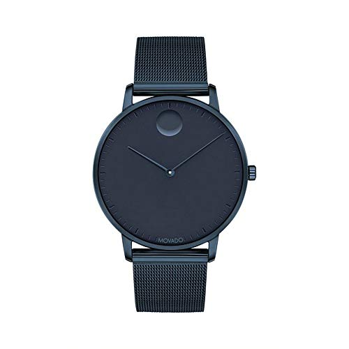 Movado FACE, Navy Ion-Plated Stainless Steel Case, Navy Dial