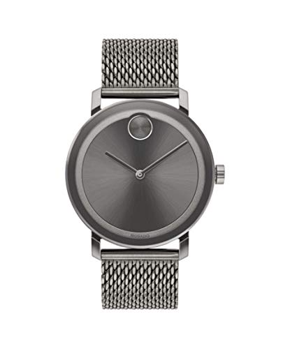 Movado Bold, Ionic Plated Grey Steel Case, Grey Dial