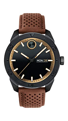 Movado Men's BOLD Sport Black PVD Watch with a Printed Index Dial