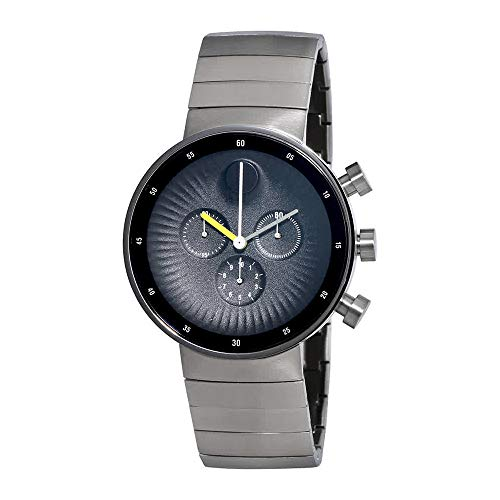 Movado Edge Chronograph Black Dial Stainless Steel Mens Watch