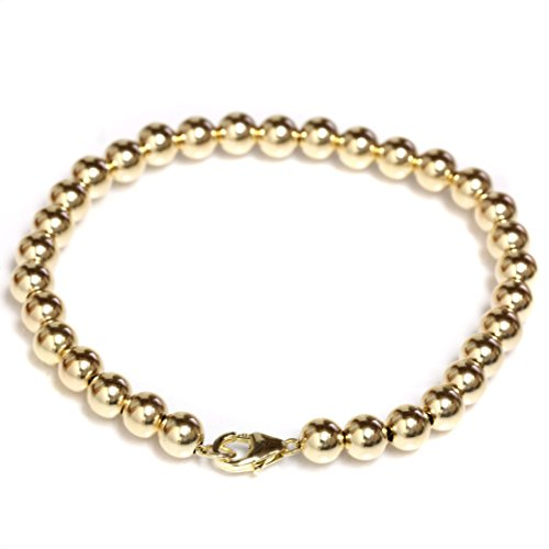 Seven Seas Pearls Beaded Bracelet 14k Yellow Gold with Lobster Clasp