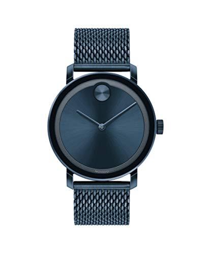 Movado Bold, Blue Stainless Steel Case, Blue Dial, Blue Steel Mesh Bracelet, Men, 3600610