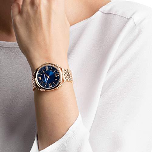 Swarovski Crystalline Glam Watch Metal Bracelet Rose Gold Tone Swarovski Crystal Authentic Crystalline Glam Watch