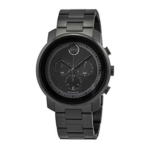 Movado Bold Chronograph Black Dial Mens Watch 3600472